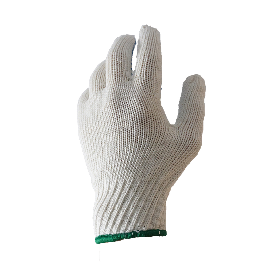 Перчатки трикотажные с ПВХ. 230 текс