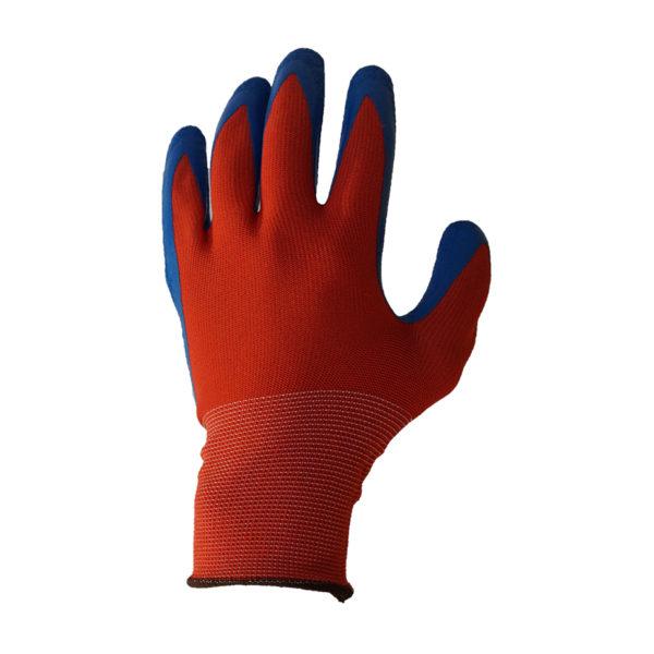Перчатки нейлоновые с рельефным латексным покрытием