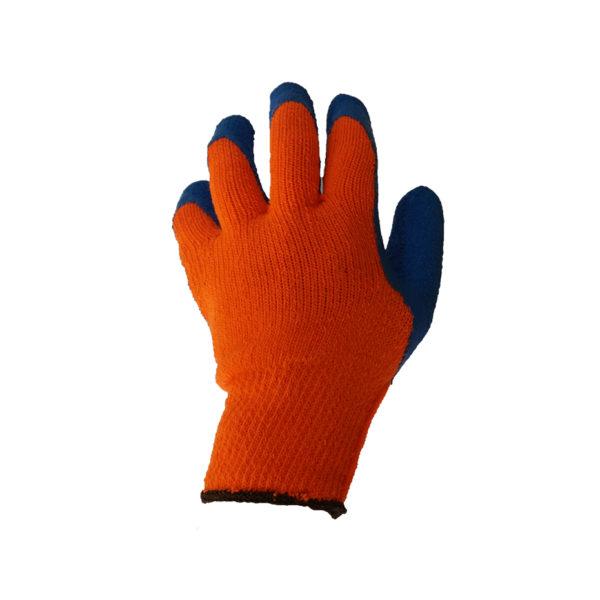 Перчатки акриловые с рифленым латекс. покрытием